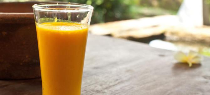 kachi haldi ka juice