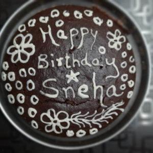 birthday cake with ragi flour